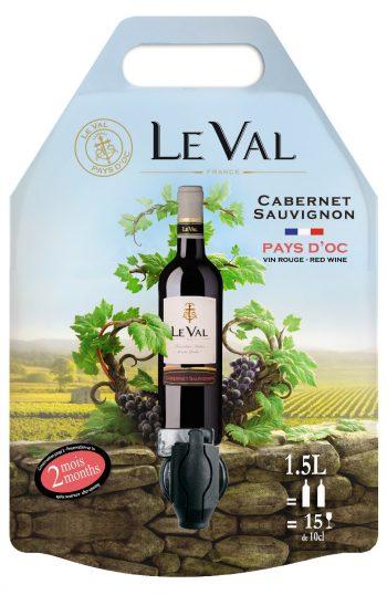 Le Val Cabernet Sauvignon IGP Pays d'Oc 150cl pouch