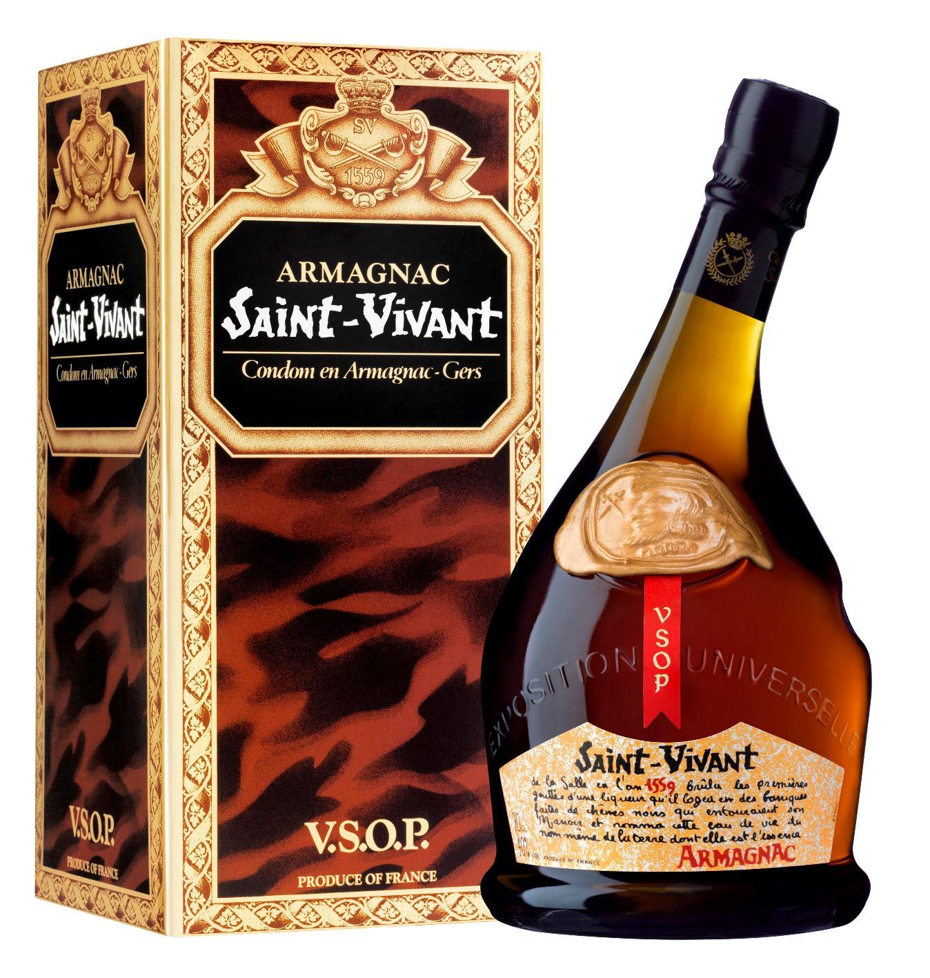 Saint-Vivant Armagnac VSOP 70cl giftbox