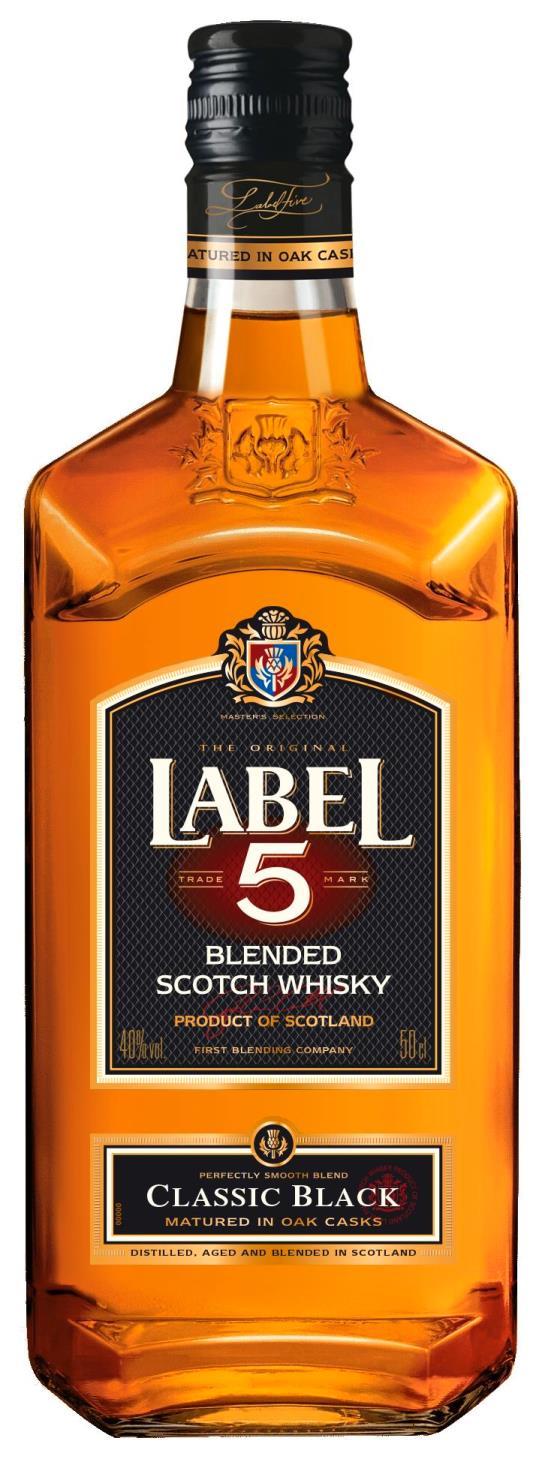 Label 5 Classic Black Scotch Whisky 50cl