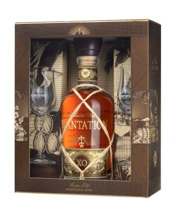 Plantation XO 20th Anniversary Rum 70cl +glasses giftbox