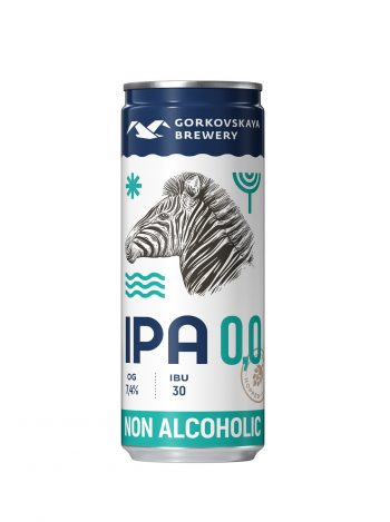 Gorkovskaja Brewery IPA Alcohol-Free beer 33cl CAN